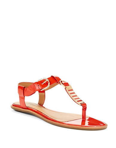 AERIN Swift Patent Leather Sandals
