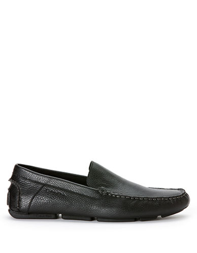 CALVIN KLEINMiguel Tumbled Leather Driver Moccasins