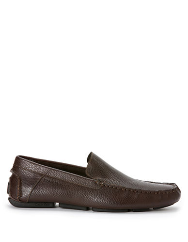 CALVIN KLEIN Miguel Tumbled Leather Driver Moccasins