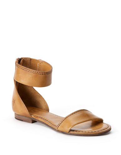 FRYE Carson Leather Ankle Zip Sandals