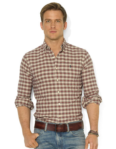 POLO RALPH LAUREN Classic-Fit Plaid Cotton Oxford Shirt