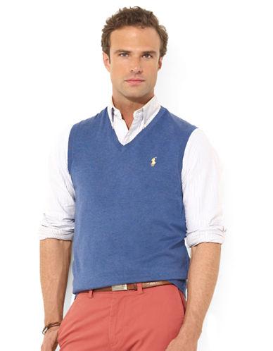 POLO RALPH LAURENPima Cotton V-Neck Vest