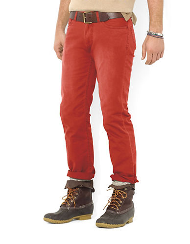 POLO RALPH LAUREN Straight Five Pocket Preppy Chino Pants