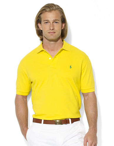 POLO RALPH LAURENClassic-Fit Short-Sleeved Cotton Mesh Polo