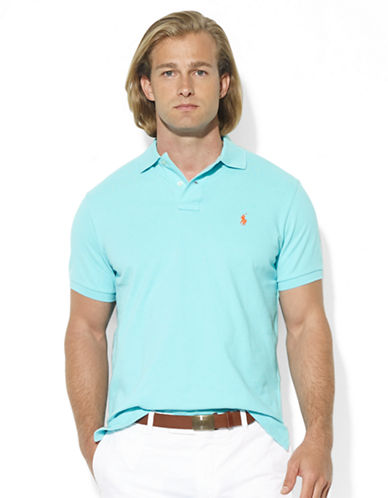 POLO RALPH LAUREN Custom-Fit Short-Sleeved Cotton Mesh Polo
