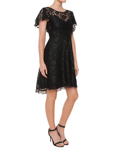 ELLA MOSSFloral Lace Cocktail Dress