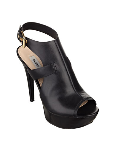 GUESS Ofira Calf Leather Platform Heels