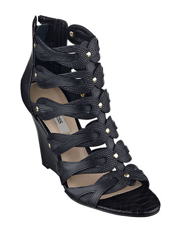 GUESS Jily Leather Sandal Wedges
