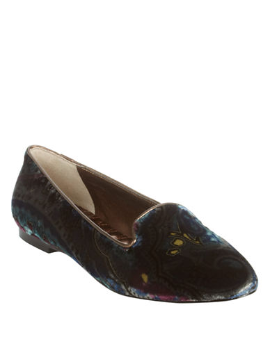 Ivanka Trump Kenni Fabric Leather Smoking Flats