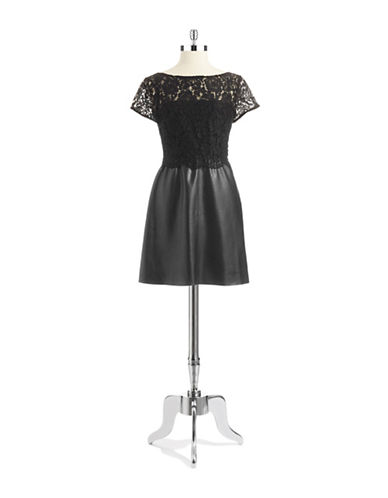 Shop Bailey 44 online and buy Bailey 44 Faux Leather and Lace Dress dress online