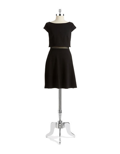 BAILEY 44Mock Top Fit and Flare Dress