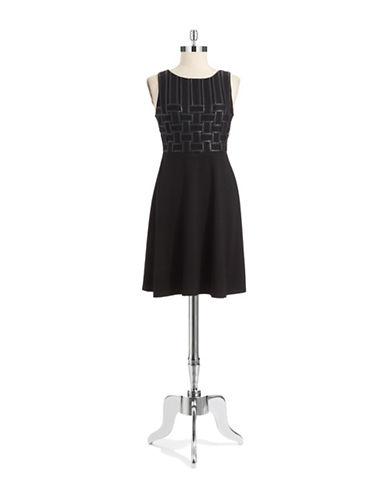 BAILEY 44Basketweaved Bodice Dress