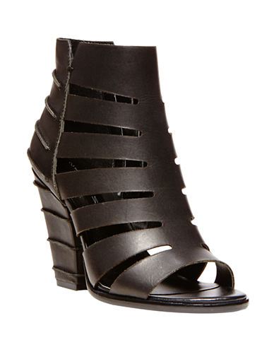 STEVEN BY STEVE MADDEN Casted Leather Sandal Booties