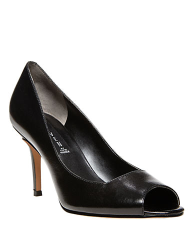 STEVEN BY STEVE MADDEN Fate Metallic Leather Pumps