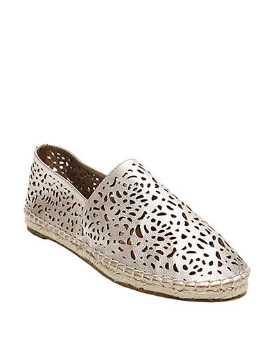 Buy Lasir Perforated Leather Flats by Steven By Steve Madden online