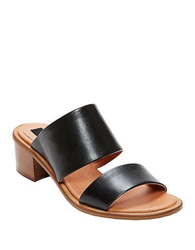 STEVEN BY STEVE MADDENPoke Leather Heeled Sandals