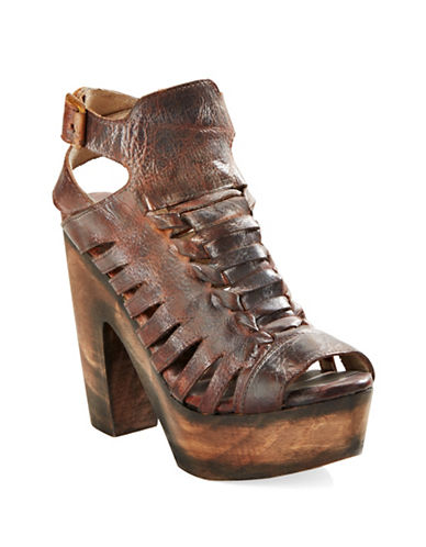 FREEBIRD BY STEVENCongo Leather Platform Sandals