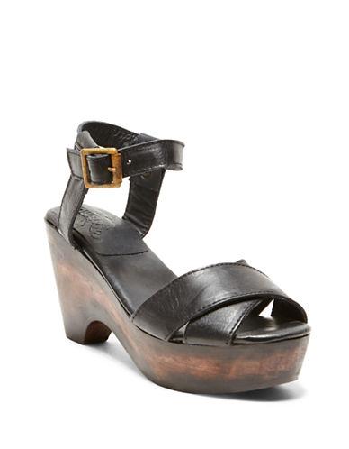 FREEBIRD BY STEVENCape Leather Platform Sandals