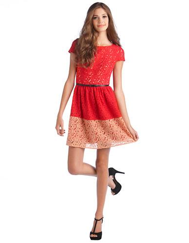 KENSIEMixed Floral Cotton Lace Dress