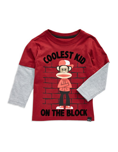 PAUL FRANKBoys 2-7 Faux Layered T Shirt