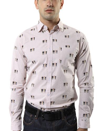 MARC ECKO CUT & SEWStick Up Kids Embroidered Dress Shirt