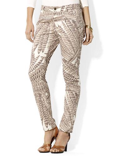 LAUREN RALPH LAURENFeather-Print Skinny Jeans