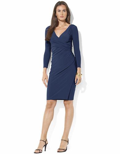 Shop Lauren Ralph Lauren online and buy Lauren Ralph Lauren Jersey Side Draped Dress dress online