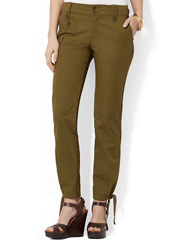 LAUREN RALPH LAUREN Petite Straight Cotton Cargo Pants