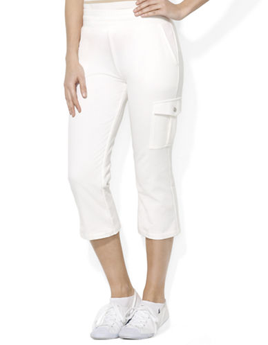 LAUREN RALPH LAUREN French Terry Cropped Cargo Pants