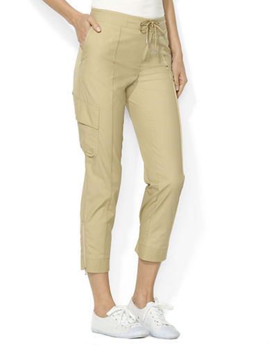 LAUREN RALPH LAUREN Cropped Cotton Cargo Pants
