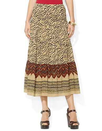 LAUREN RALPH LAURENTiger-Print Tiered Maxi Skirt
