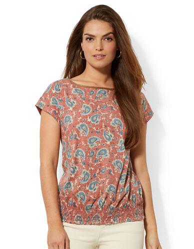 LAUREN RALPH LAURENSmocked Paisley Shirt