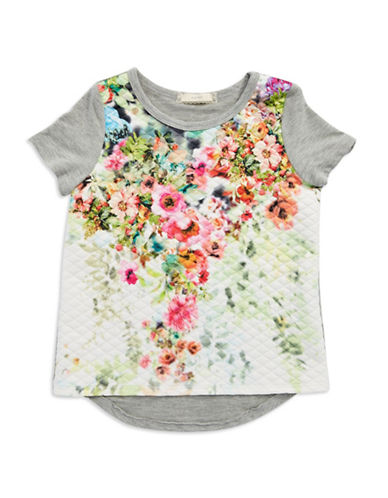 SOPRANO Girls 7-16 Quilted Floral Tee