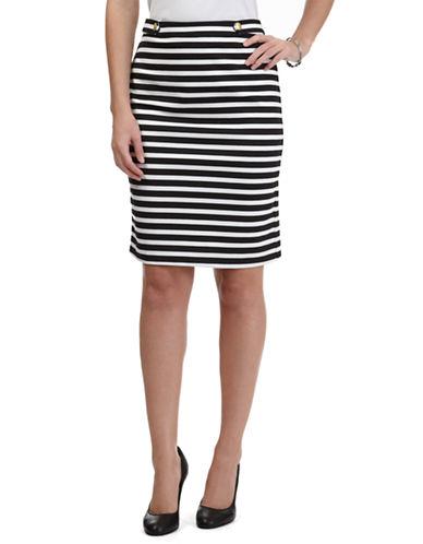NAUTICAOttoman Ponte Knit Stripe Skirt