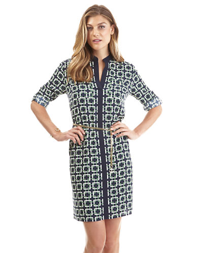 NAUTICA Printed and Tipped Shirtdress