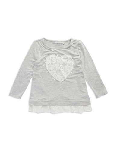 DESIGN HISTORY Girls 2-6x Lace Heart Tee