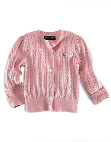 RALPH LAUREN CHILDRENSWEAR Baby Girls Long-Sleeved Cotton Cardigan