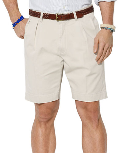 POLO RALPH LAURENClassic-Fit Pleated 9 inch Chino Shorts