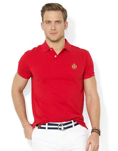POLO RALPH LAUREN Classic-Fit Heritage Crest Mesh Polo Shirt
