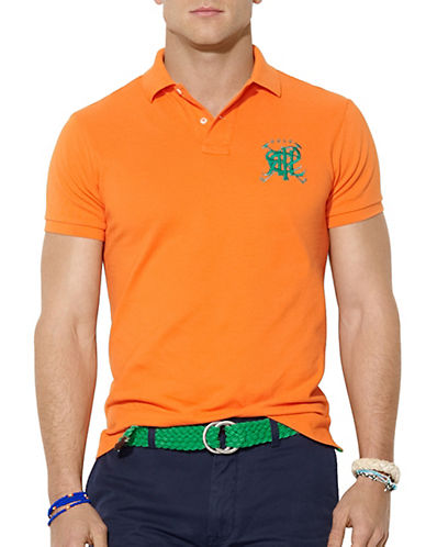 POLO RALPH LAURENClassic-Fit Cross Mallets Mesh Polo Shirt
