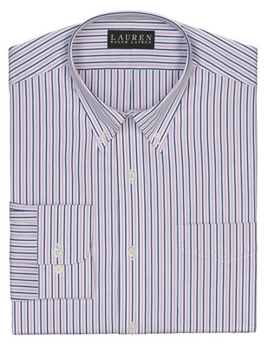 Lauren Ralph Lauren Slim-Fit Striped Broadcloth Button-Down Dress Shirt