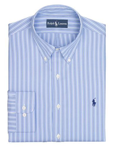 POLO RALPH LAUREN Fitted Multi-Striped Pinpoint Oxford Dress Shirt