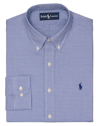 POLO RALPH LAURENFitted Checked Poplin Dress Shirt