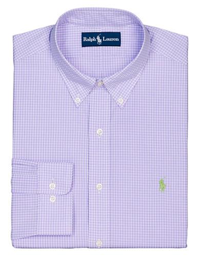 POLO RALPH LAURENRegular Fit Checked Poplin Button-Down Dress Shirt