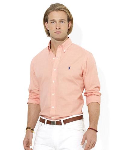 POLO RALPH LAURENCustom-Fit Mini-Checked Poplin Sport Shirt