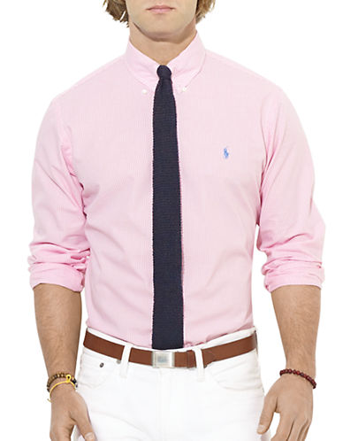 POLO RALPH LAUREN Custom-Fit Mini-Checked Poplin Sport Shirt