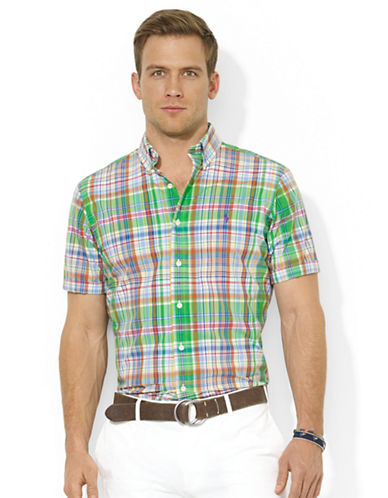 POLO RALPH LAURENClassic-Fit Short-Sleeved Plaid Poplin Sport Shirt