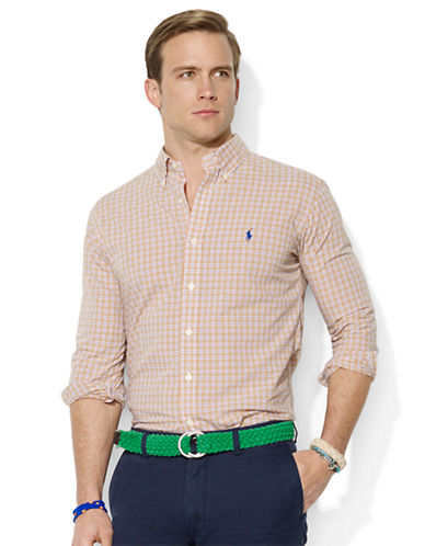 POLO RALPH LAURENClassic-Fit Checked Poplin Sport Shirt