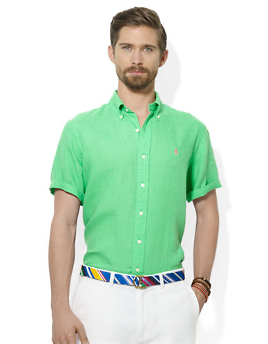 POLO RALPH LAURENClassic-Fit Short-Sleeved Linen Sport Shirt