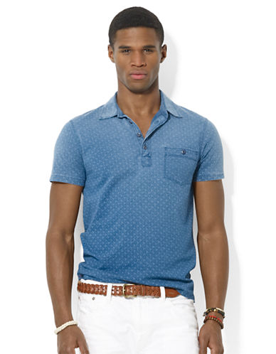 POLO RALPH LAURENDiamond-Print Jersey Polo Shirt